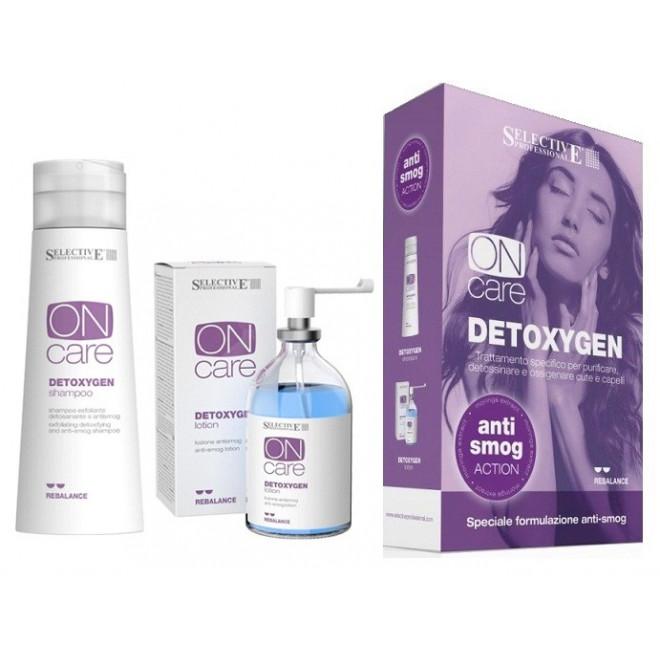 Zestaw chroniący włosy przed smogiem, Selective Professional Detoxygen