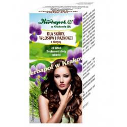 Kapsułki z biotyną dla skóry, włosów i paznokci, Herbapol
