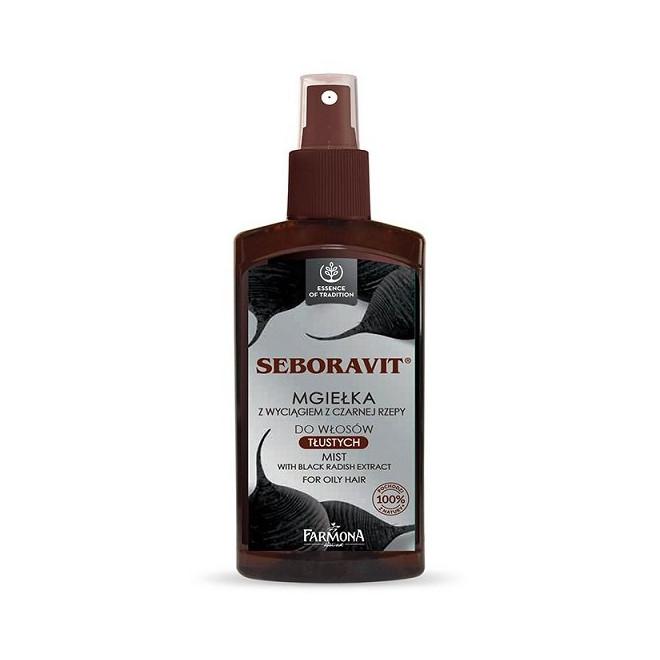 Mgiełka z wyciągiem z czarnej rzepy do włosów tłustych, Seboravit Farmona12, 200ml