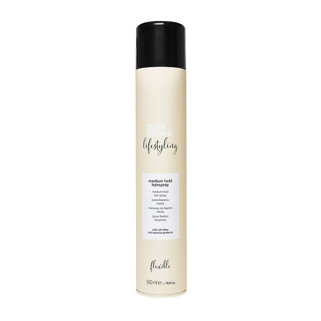 Lakier do włosów, średnie utrwalenie, Medium hairspray Milkshake, 500ml