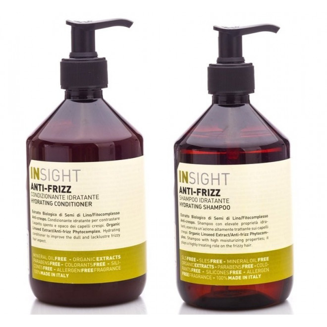 Zestaw nawadniający szampon + odżywka Anti Frizz Insight