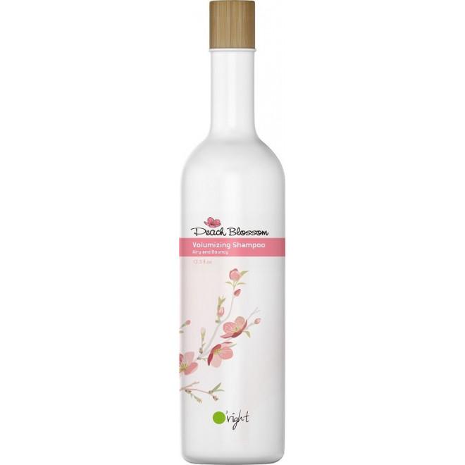 Szampon nadający objętość do włosów cienkich i delikatnych Peach Blossom Volumizing Shampoo O'right, 400ml