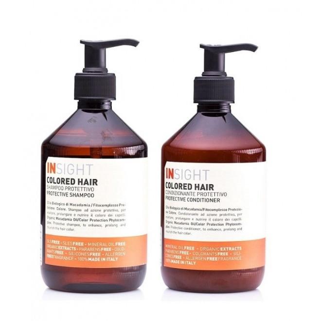 Zestaw do włosów farbowanych, szampon + odżywka Colored Insight