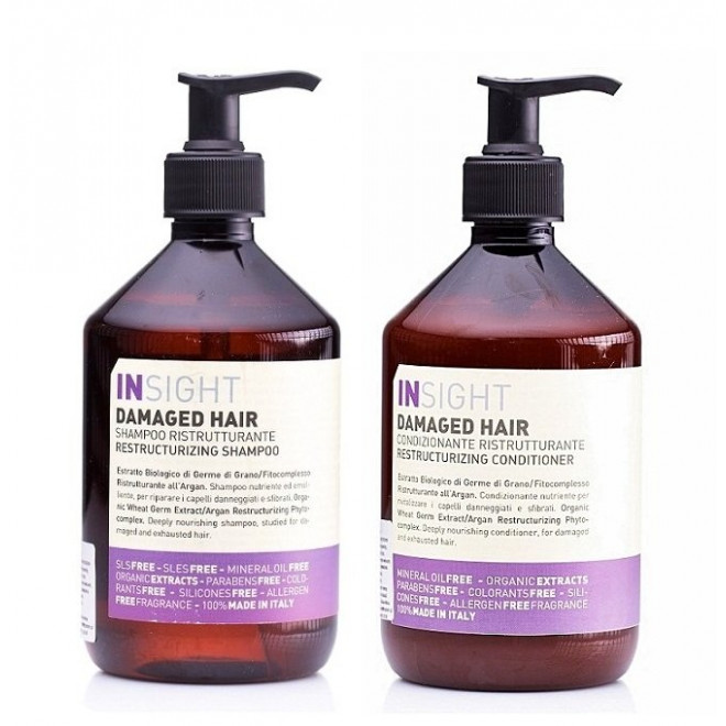 Zestaw regenerujący szampon + odżywka, Damaged Insight