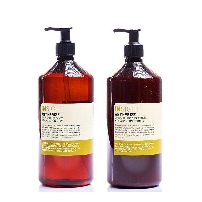 Zestaw nawadniający, szampon + odżywka, Anti-Frizz Insight, 900ml