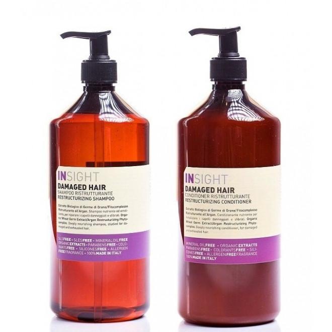 Zestaw regenerujący, szampon + odżywka, Damaged Hair Insight, 900ml