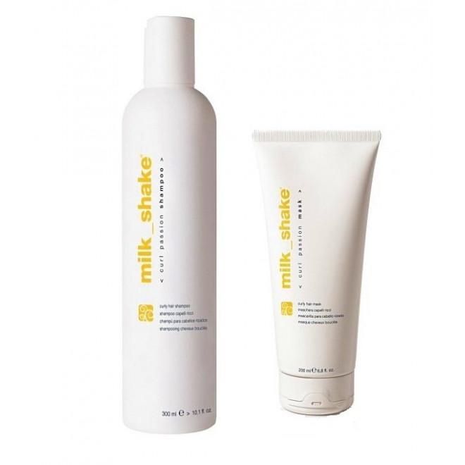 Zestaw do włosów kręconych, szampon + maska CURL PASSION, Milkshake