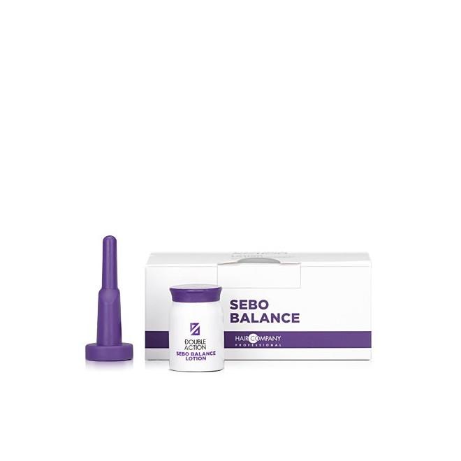 Lotion przeciwłojotokowy w ampułkach, SEBO BALANCE LOTION DOUBLE ACTION, Hair Company, 10x10 ml