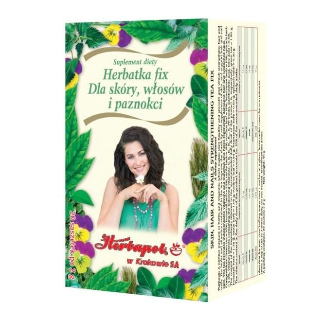 Herbatka Fix dla skóry, włosów i paznokci Herbapol