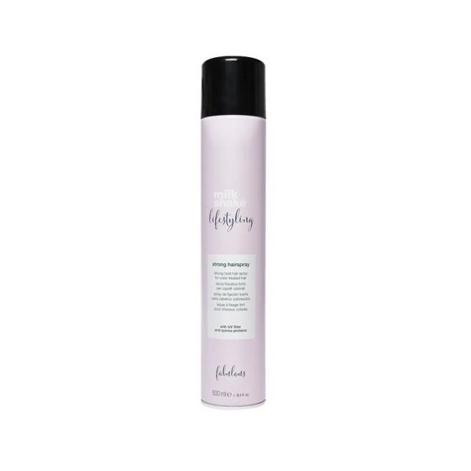 Lakier do włosów mocno utrwalający, Strong hairspray Milkshake, 500ml