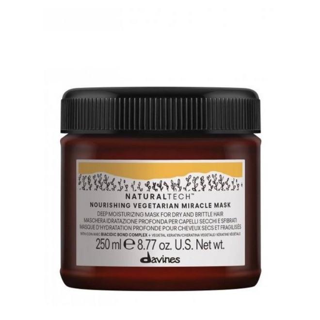 Davines Naturaltech Nourishing Vegetarian Miracle Mask - Maska nawilżająca do suchych, łamliwych włosów, 250ml